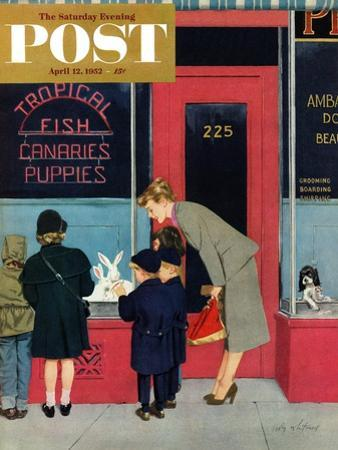 """Bunnies for Sale"" Saturday Evening Post Cover, April 12, 1952"