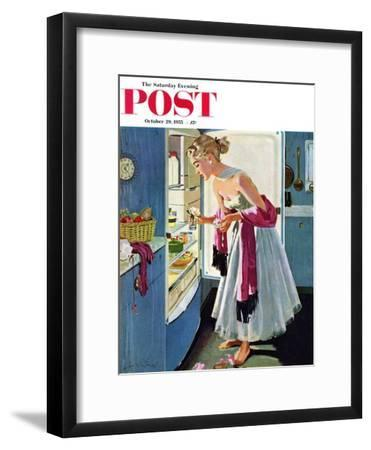 """Prom Momento"" Saturday Evening Post Cover, October 29, 1955"
