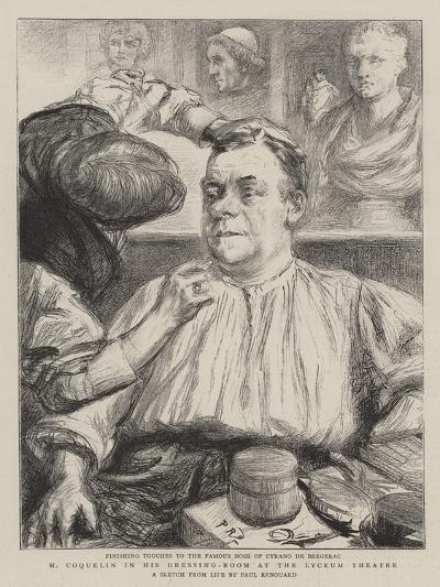M Coquelin in His Dressing-Room at the Lyceum Theatre-Charles Paul Renouard-Giclee Print