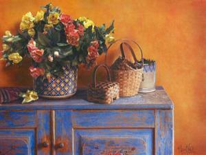 Flowers on Gramma's Sideboard I by M. De Flaviis