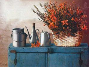 Flowers on Gramma's Sideboard II by M. De Flaviis