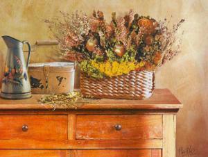 Flowers on Gramma's Sideboard III by M. De Flaviis