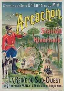 Poster Advertising the Seaside Resort of Arcachon, c.1910 by M. de Fonremis