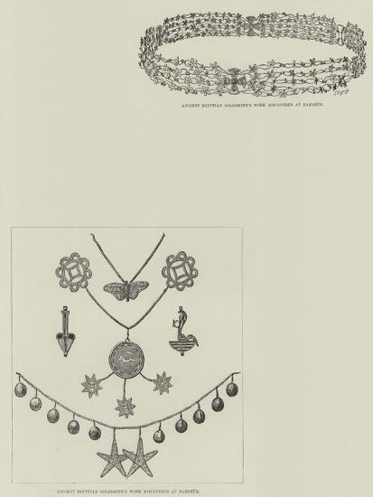 M De Morgan's Discoveries at Dahshur--Giclee Print
