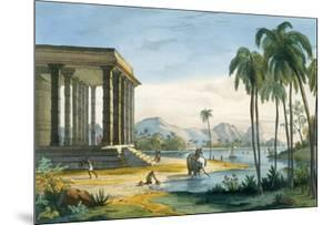 A View of Tinnevely, Illustration from 'L'Inde Francaise', Engraved by Chabrelle, Paris, C.1827-35 by M.E. Burnouf