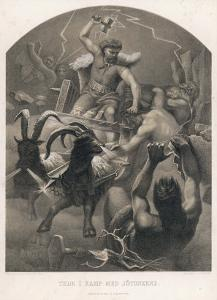 The God Thor Fights the Giants by M.e. Winge