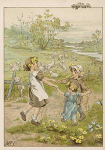 Ring O' Roses circa1880 by M. Ellen Edwards