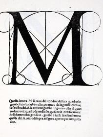 M, Illustration from 'Divina Proportione' by Luca Pacioli