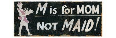 M is for Mom-Pela Design-Premium Giclee Print