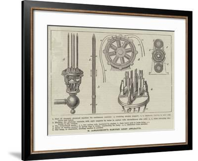 M Jablochkoff's Electric Light Apparatus--Framed Giclee Print