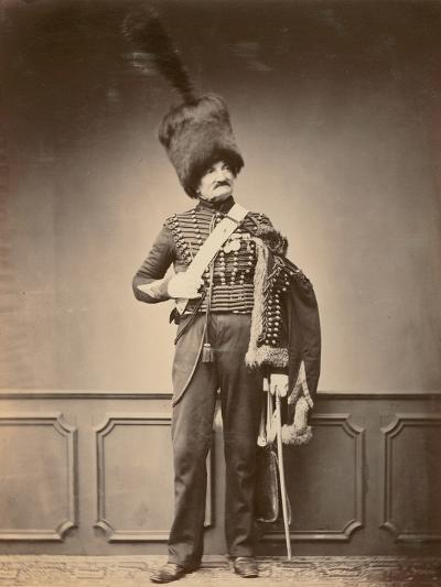 M. Maire of the 7th Hussars, 1860--Photographic Print