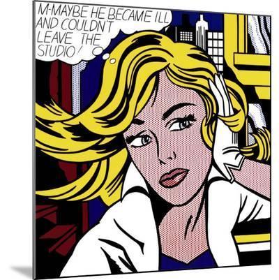 M-Maybe, c.1965-Roy Lichtenstein-Mounted Print