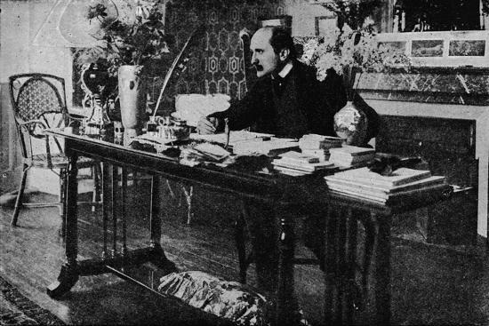 'M. Rostand in his Library', c1902, (1903)-Unknown-Photographic Print