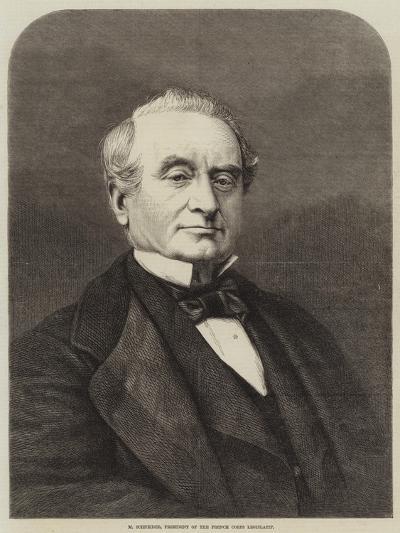 M Schneider, President of the French Corps Legislatif--Giclee Print
