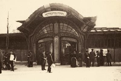 M?tropolitain Station, Place De La Bastille, 1900--Photographic Print