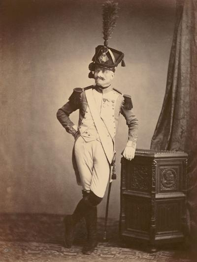 M. Vitry of the Departmental Guard, 1860--Photographic Print