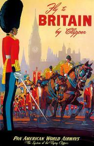 Fly To Britain By Clipper - Pan American World Airways (PAA) - British Royal Procession by M. Von Arenburg