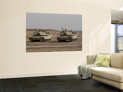 M1 Abrams Tank at Camp Warhorse--Giant Art Print