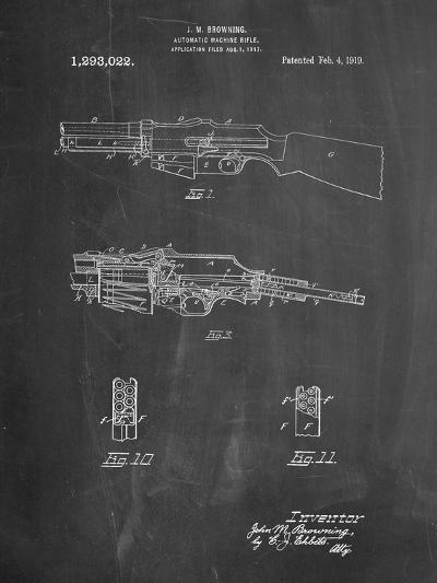 M1919 Browning Automic Rifle Patent-Cole Borders-Art Print