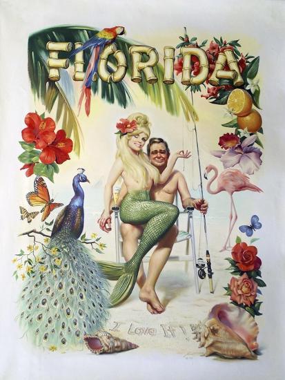 M35 Florida-D. Rusty Rust-Giclee Print