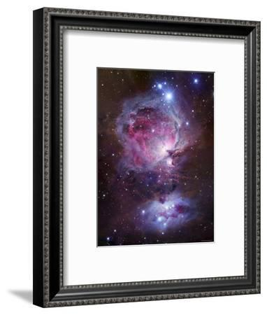 M42, the Orion Nebula (Top), and NGC 1977, a Reflection Nebula (Bottom)-Stocktrek Images-Framed Photographic Print