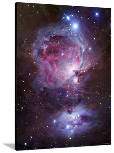 M42, the Orion Nebula (Top), and NGC 1977, a Reflection Nebula (Bottom)-Stocktrek Images-Stretched Canvas Print
