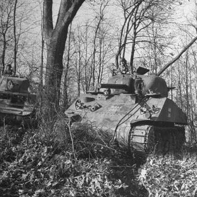 M4A2 Tanks Tested at Alberdeen Proving Ground-Bernard Hoffman-Photographic Print