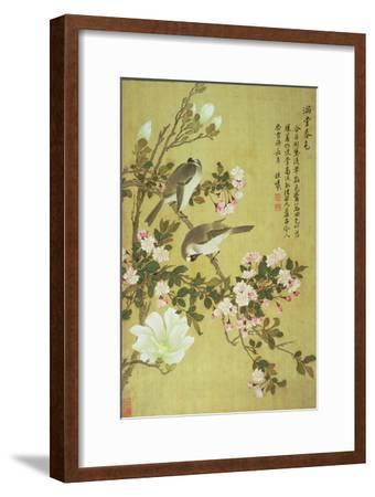 Crabapple, Magnolia and Baitou Birds