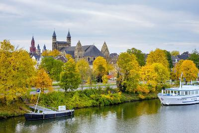Maastricht Skyline, Onze Lieve Vrouwebasiliek (Basilica of Our Lady) in Early Autumn, Maastricht-Jason Langley-Photographic Print