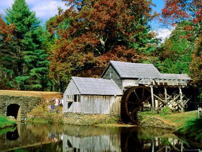 Mabry Mill Near Meadows of Dan-Dennis Johnson-Photographic Print