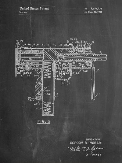 Mac-10 UZI Patent-Cole Borders-Art Print
