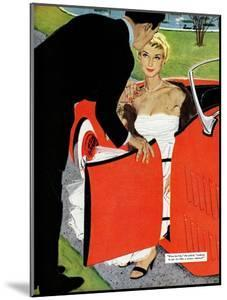 """No Love Allowed, A - Saturday Evening Post """"Leading Ladies"""", March 26, 1955 pg.26 by Mac Conner"""
