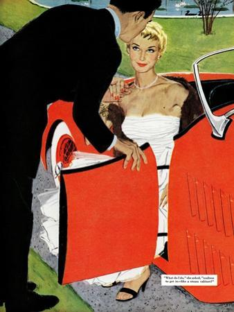 """No Love Allowed, A - Saturday Evening Post """"Leading Ladies"""", March 26, 1955 pg.26"""