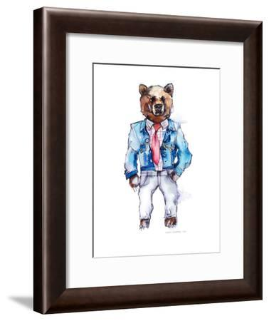 Mac the Bear-Claudia Liebenberg-Framed Art Print