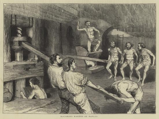 Macaroni Makers at Naples-Godefroy Durand-Giclee Print