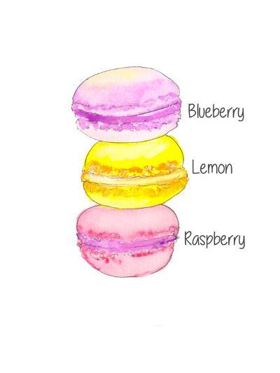 Macarons Txt- Alison B Illustrations-Art Print