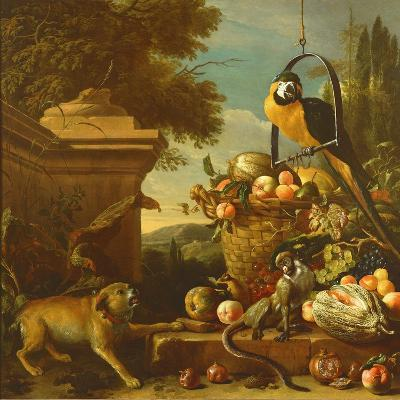 Macaw and a Monkey-Melchior de Hondecoeter-Giclee Print