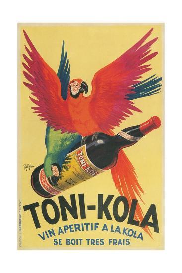Macaws with Bottle of Toni-Kola Liqueur--Giclee Print
