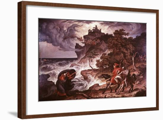 Macbeth and the Witches, 1835-Joseph Anton Kock-Framed Giclee Print