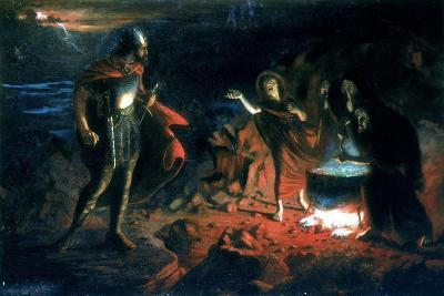Macbeth and the Witches, Late 19th Century-Henry Daniel Chadwick-Giclee Print