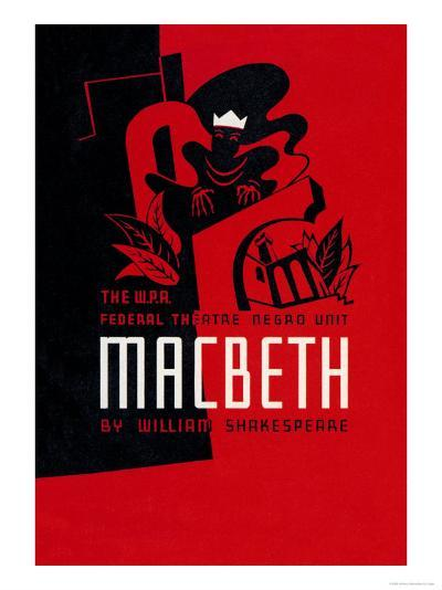 Macbeth: Wpa Federal Theater Negro Unit-Anthony Velonis-Art Print