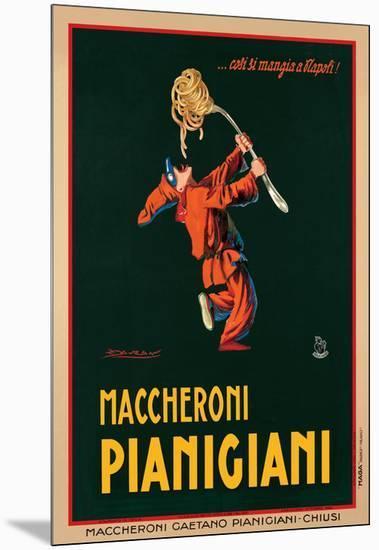 Maccheroni Pianigiani, 1922-Achille Luciano Mauzan-Mounted Giclee Print