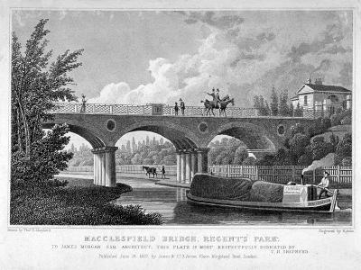 Macclesfield Bridge, Regent's Park, Marylebone, London, 1827-R Acon-Giclee Print