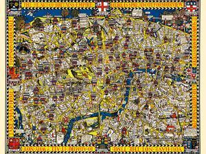 The Wonderground Map Of London Town by Macdonald Gill