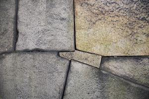 A Detail of the Stone Wall at Osaka Castle by Macduff Everton