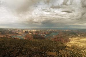A View of Lake Powell from the Kaiparowits Plateau by Macduff Everton