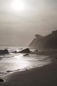 A View of the Coastline at Sunset Near Arroyo Burro Beach by Macduff Everton