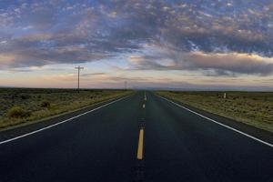 An Open Road at Sunrise on the High Desert by Macduff Everton