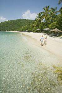 Couple Walking on Beach by Macduff Everton