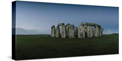 Stonehenge on the Salisbury Plain with the Moon on the Horizon